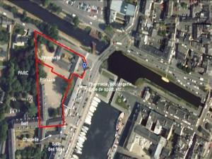 Vue aérienne de l'école Notre Dame à Redon