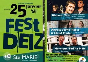 Fest Deiz à Ste Marie le 25 janvier 2015