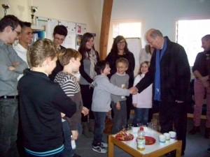 Visite de Monseigneur Ornellas à l'école Notre-Dame de Redon